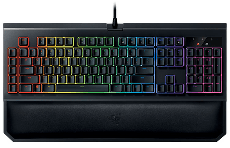 Razer tipkovnica BlackWidow Chroma V2 Green Switch, UK SLO g., črna