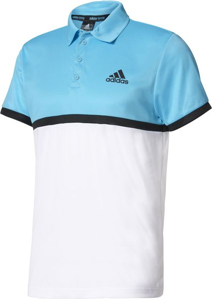 Adidas Court Polo Samba Blue /White/Black L