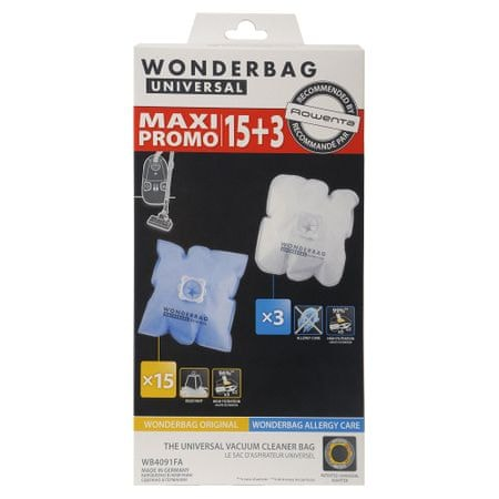 Rowenta worki do odkurzacza WB4091FA Wonderbag Original x 15 + Allergy care x3