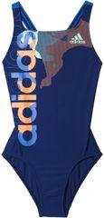 Adidas otroške kopalke By Lineage Suit, modre/oranžne