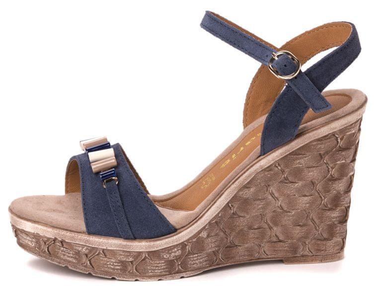 Tamaris dámské sandály 36 modrá