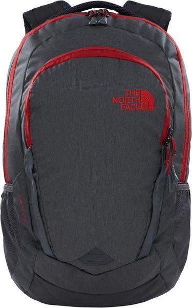 The North Face Vault Asphalt grey dark heather/Cardinal red