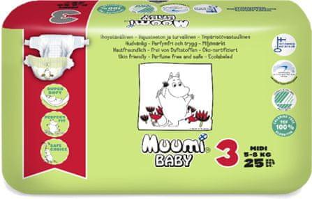 MUUMI BABY 3 Midi (5-8 kg) 25 ks