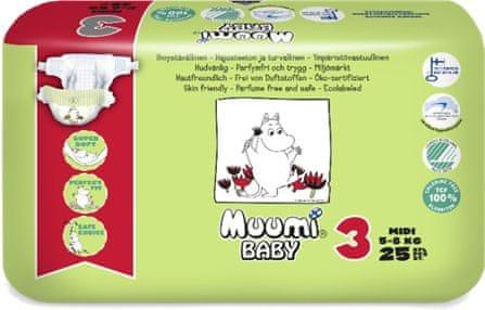 MUUMI BABY 3 Midi 5-8 kg (25 ks)
