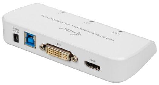 i-Tec USB3.0 DVI/VGA/HDMI Dual Display Adapter U3DUALADA