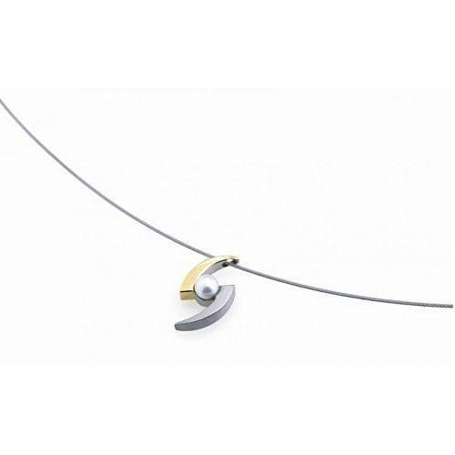 Boccia Titanium Titanový bicolor přívěsek s perlou 0772-02