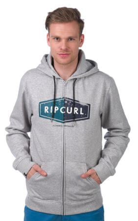 Rip Curl moška jopica Hooded Diamond S siva