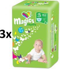 Magics Pieluchy Flexidry Midi (4-9 kg) Ecopack- 198 szt.