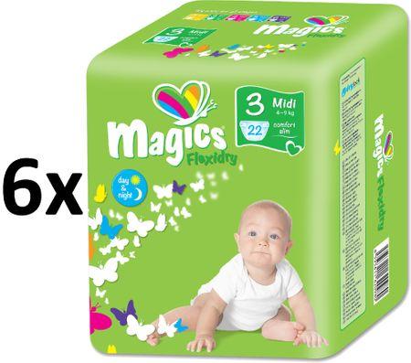 Magics plenice Flexidry Midi (4-9kg) Megapack 132 kosov
