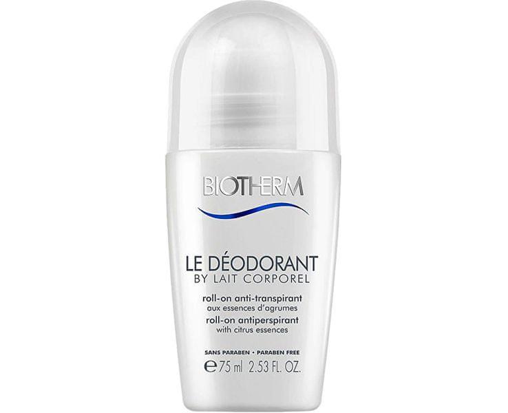Biotherm 48hodinový kuličkový antiperspirant Le Déodorant By Lait Corporel (48h Roll-On Antiperspirant) 75 ml