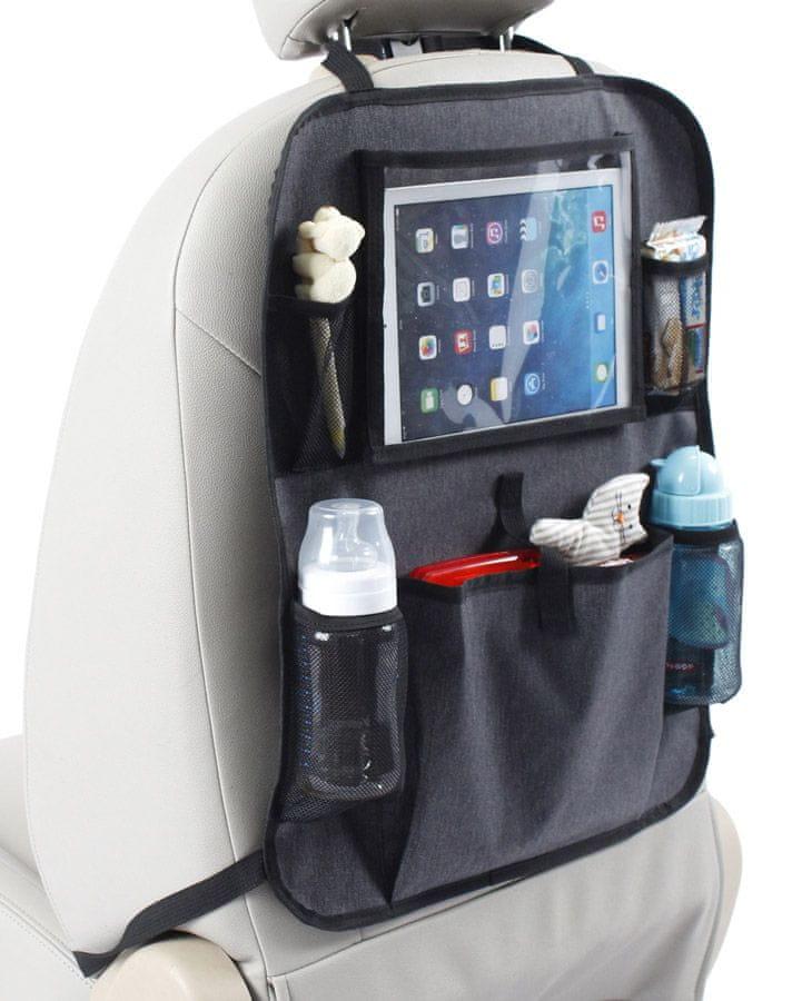 Kapsář do auta s kapsou na tablet Baby Dan Luxury Grey