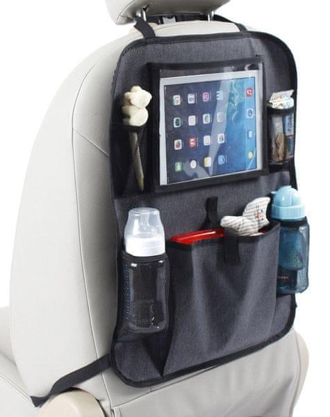 BabyDan Kapsář do auta s kapsou na tablet, Luxury Grey