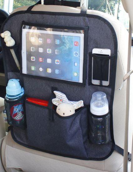 BabyDan Vreckár do auta s vreckom na tablet, Luxury Grey