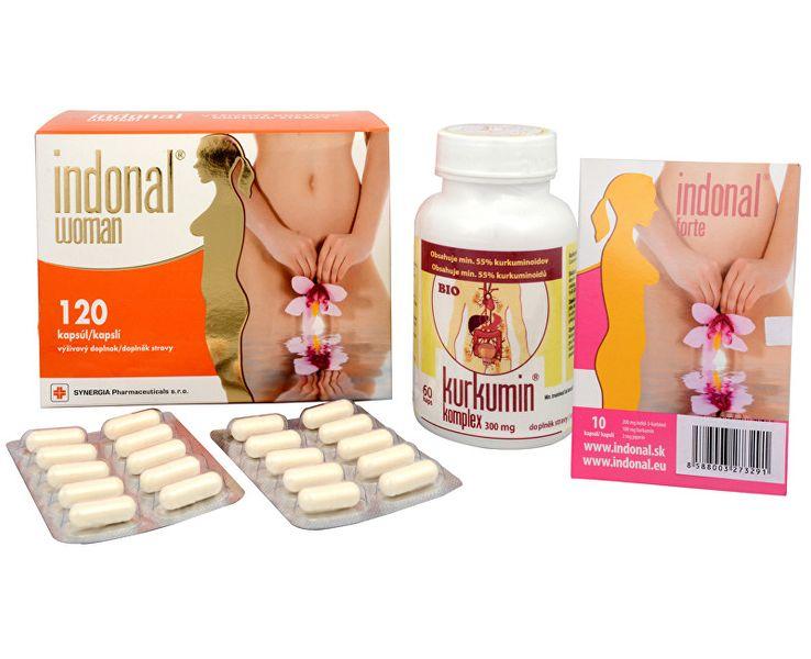 Synergia Indonal Woman 120 kapslí + Kurkumin komplex 60 kapslí + Indonal Forte 10 kapslí ZDARMA