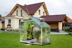 VITAVIA skleník VITAVIA VENUS 2500 matné sklo 4 mm strieborný