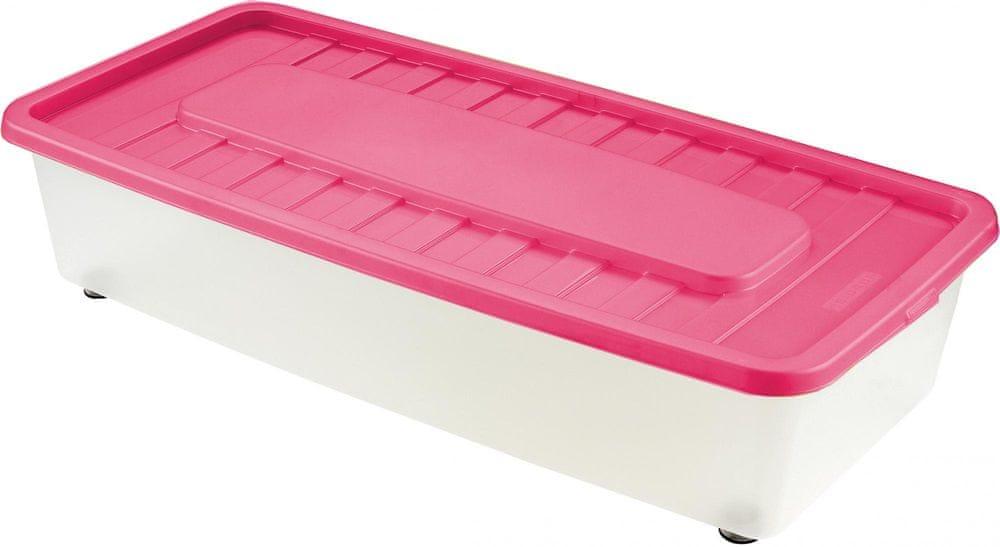 Heidrun Box úložný pod postel 35 l, růžová