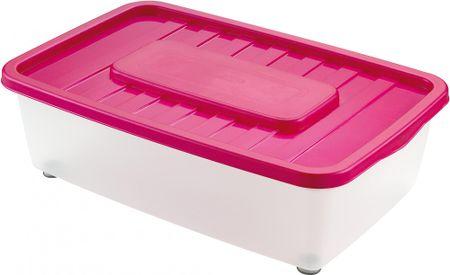Heidrun škatla za shranjevanje pod posteljo 25 l, roza