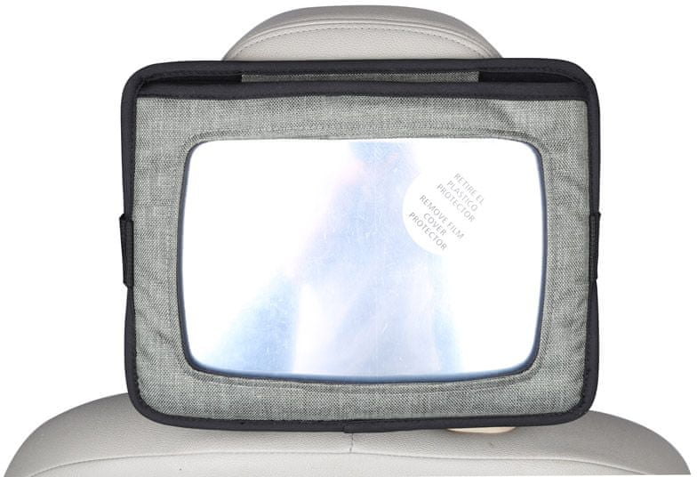 BABY DAN Držák tabletu a baby zrcadlo do auta, Lux Grey