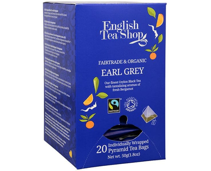 English Tea Shop Černý čaj Earl Grey s bergamotem 20 pyramidek