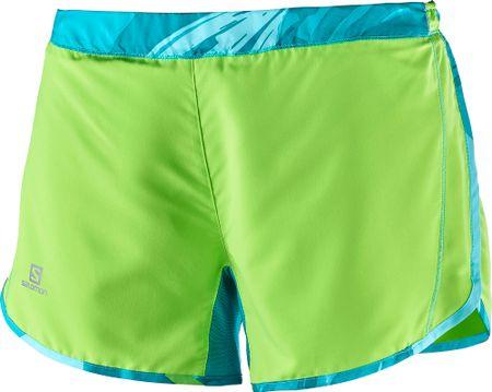 Salomon ženske hlače Agile Short, zelene, S