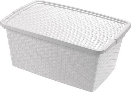 Heidrun škatla za shranjevanje Ratan, 10 l, bela