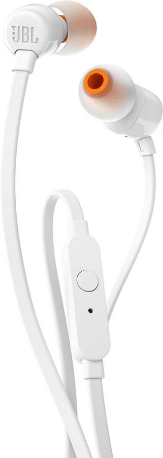 JBL T110 sluchátka s mikrofonem, bílá
