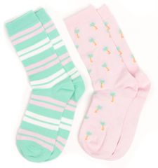 Gant dvojité balení dámských růžových ponožek