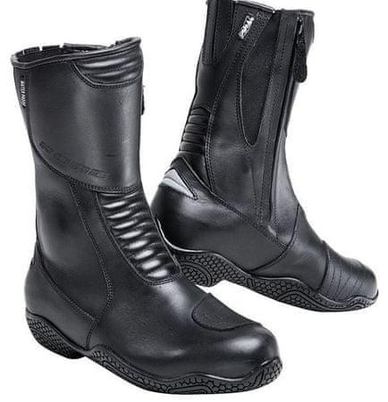 Motoristični usnjeni škornji ROAD Touring 1.0, ženski, črni, 40