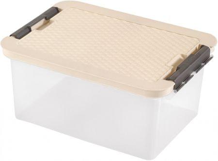Heidrun škatla za shranjevanje z ratan pokrovom, 14 l, bež