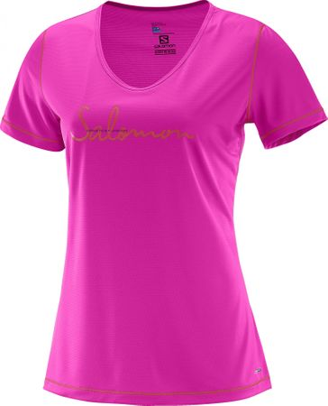 Salomon Mazy Graphic Ss Tee W Rose Violet S