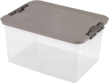 Heidrun škatla za shranjevanje z ratan pokrovom, 38 l, rjava