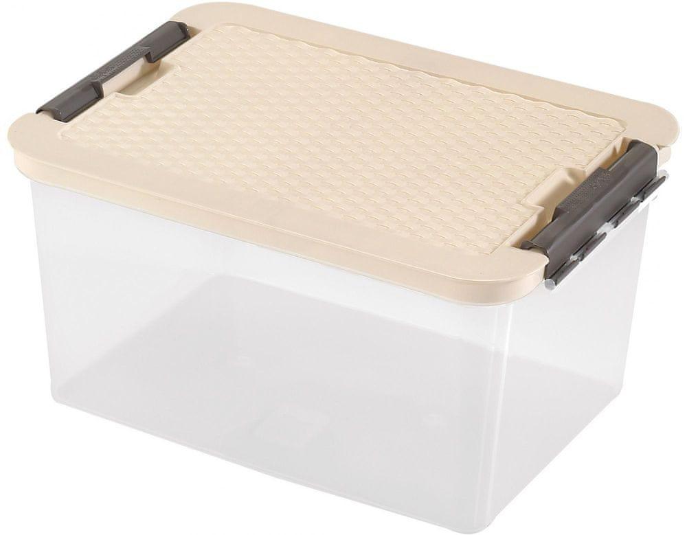 Heidrun Box s ratanovým víkem 38 l, béžová
