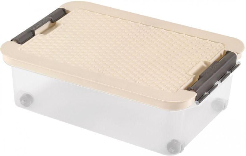 Heidrun Box s ratanovým víkem 25 l, béžová