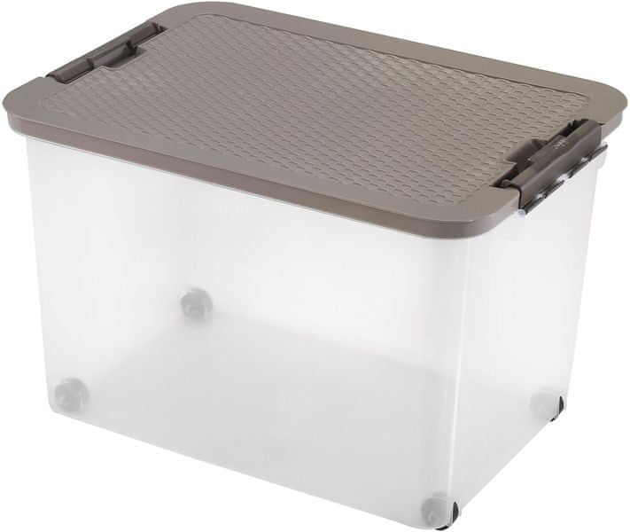 Heidrun Box s ratanovým víkem 45 l, hnědá