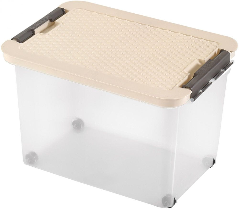 Heidrun Box s ratanovým víkem 45 l, béžová