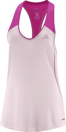 Salomon ženska majica Elevate Tank Tunic, roza, S