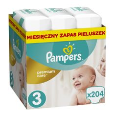 Pampers pelene Premium Care 3 Midi, 204 kom