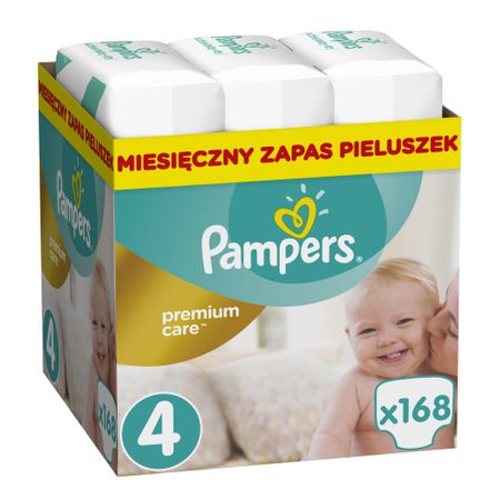 Pampers pieluchy Premium Care 4 (Maxi) - 168 szt.