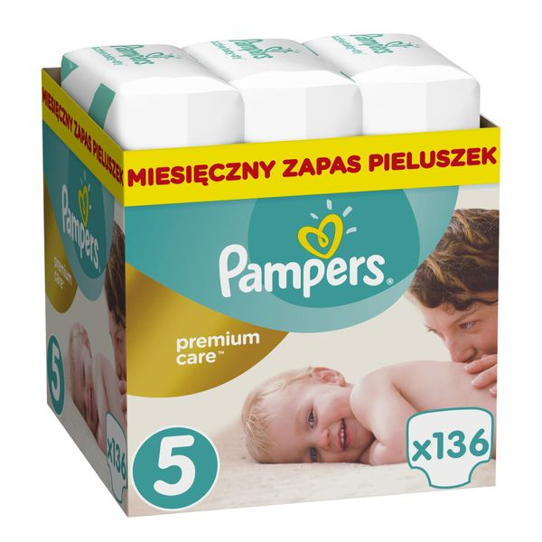 Pampers Pleny Premium Care 5 (Junior) - 136 ks