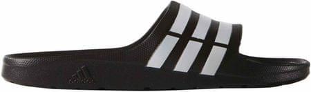 Adidas natikači Duramo Slide, beli/črni, 46