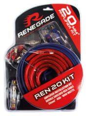 Renegade REN20KIT Tápkábel szett, 5 m, 20 mm2