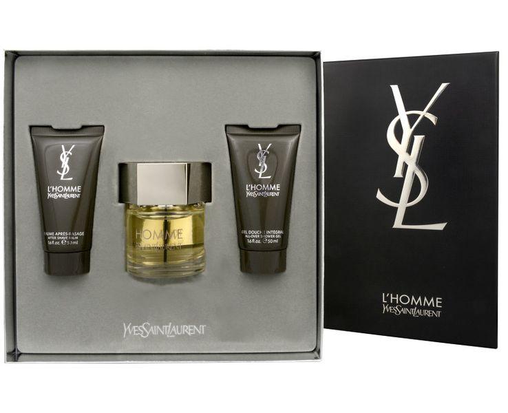 Yves Saint Laurent L´Homme - EDT 60 ml + balzám po holení 50 ml + sprchový gel 50 ml