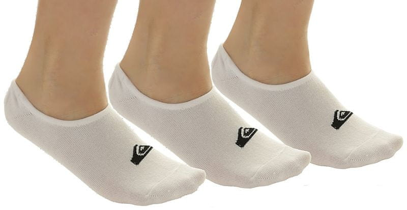 Quiksilver No Show Pack M Sock White 8-11