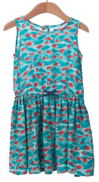 Primigi dívčí šaty 116 tyrkysová