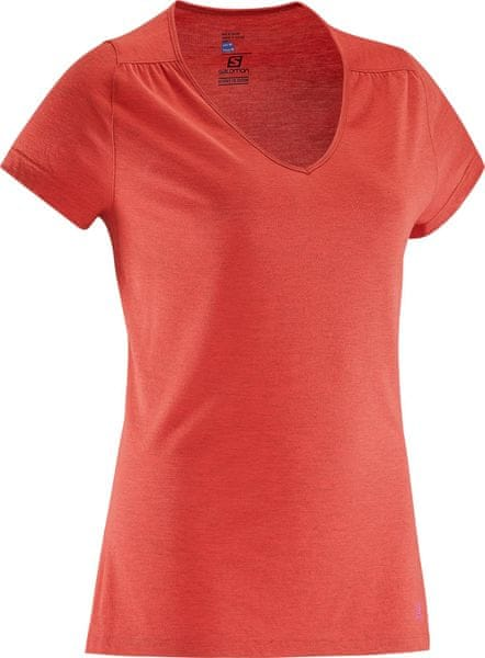 Salomon Ellipse Ss Tee W Flame Scarlet S