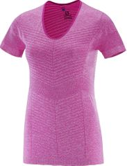 Salomon Elevate Seamless Ss Tee W Rose Violet