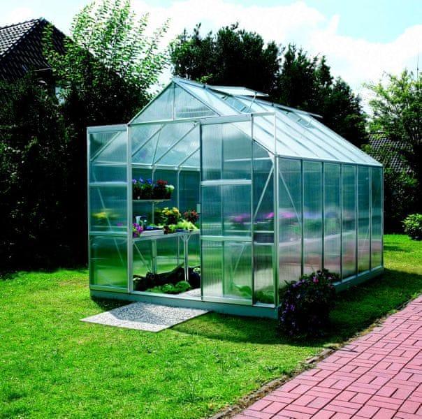 VITAVIA skleník VITAVIA URANUS 9900 PC 6 mm stříbrný
