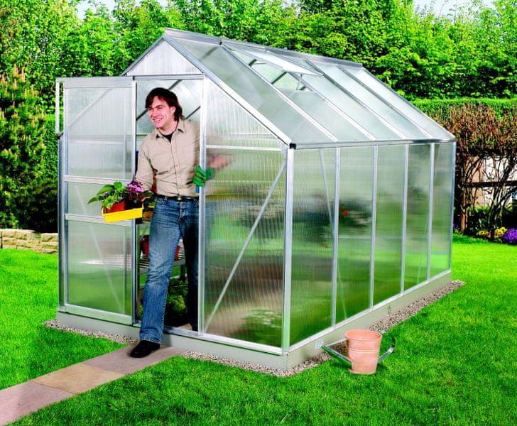 VITAVIA skleník VITAVIA VENUS 6200 PC 4 mm stříbrný
