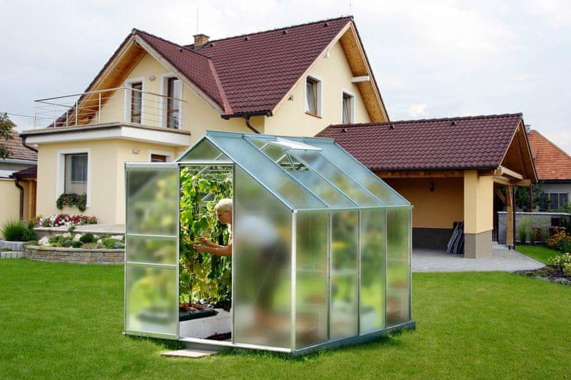 VITAVIA skleník VITAVIA VENUS 5000 matné sklo 4 mm stříbrný