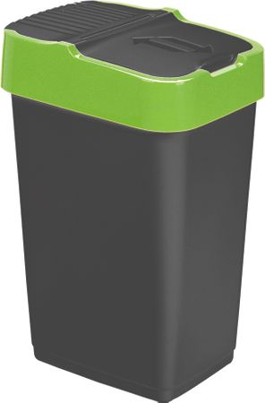 Heidrun koš za smeti, 60 l, črn/zelen